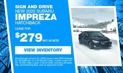 Sign and Drive New 2020 Subaru Impreza Hatchback