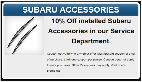 Subaru Accessories in our Service Department