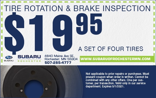 Tire Rotation & Brake Special | Subaru of Rochester