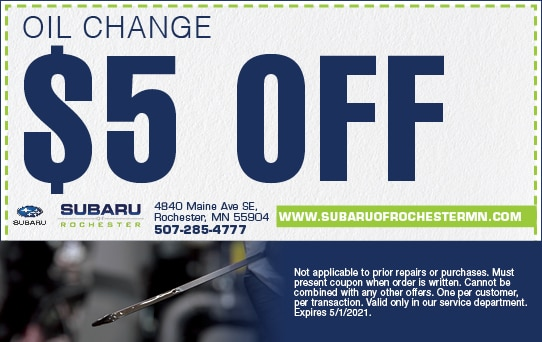 Oil Change Special | Subaru of Rochester