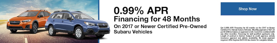 0.99% APR Financing for 48 Months