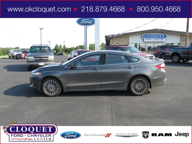 Used 2016 Ford Fusion Titanium with VIN 3FA6P0K92GR399513 for sale in Cloquet, Minnesota
