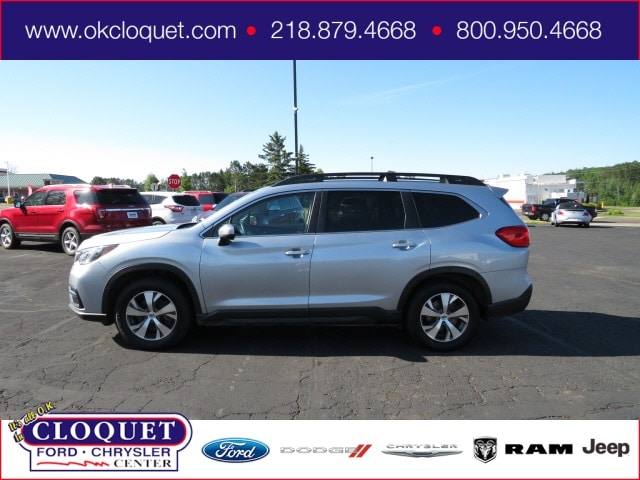 Used 2019 Subaru Ascent Premium with VIN 4S4WMAFD9K3451844 for sale in Cloquet, Minnesota