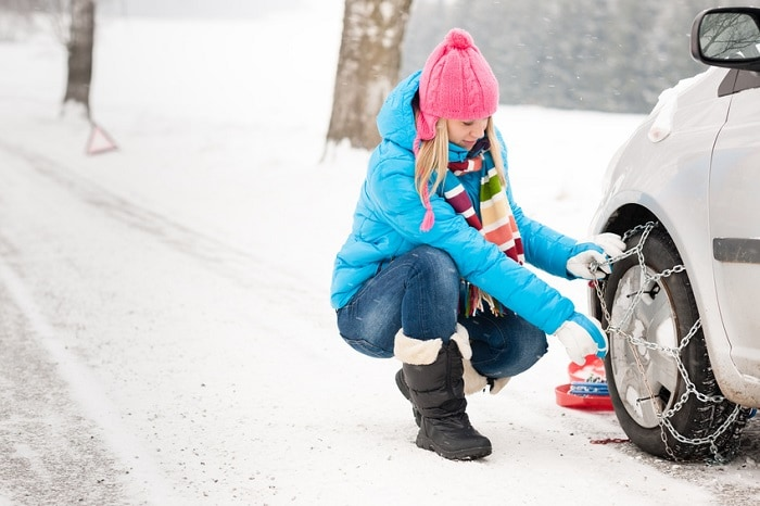In winter be sure to maintain your vehicle. It also helps to have a vehicle designed for difficult road conditions.