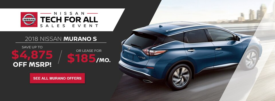 Financing Offer : 0.0% APR for 60 months on select Nissan Murano models