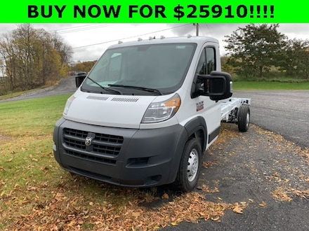 2018 Ram ProMaster 3500 CUTAWAY 159 WB EXT / 104 CA Chassis Extended