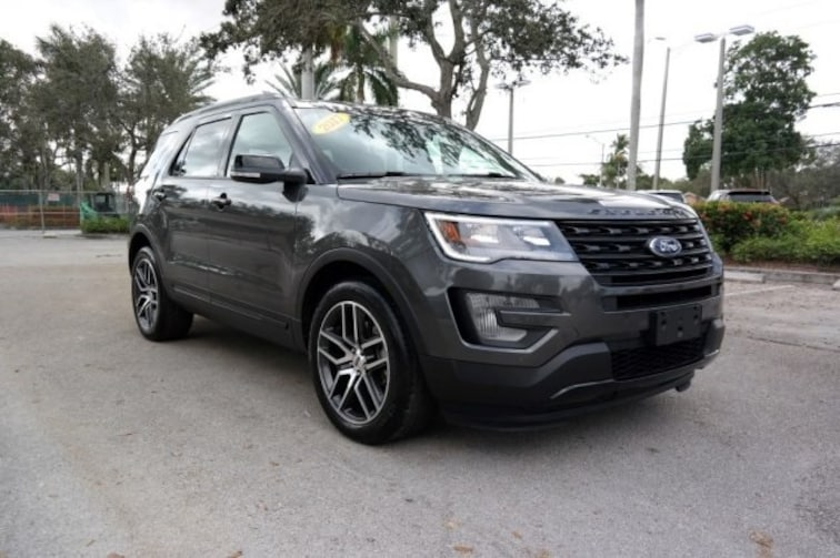 Used 2017 Ford Explorer Sport SUV for sale near Fort Lauderdale, FL at Coconut Creek Subaru