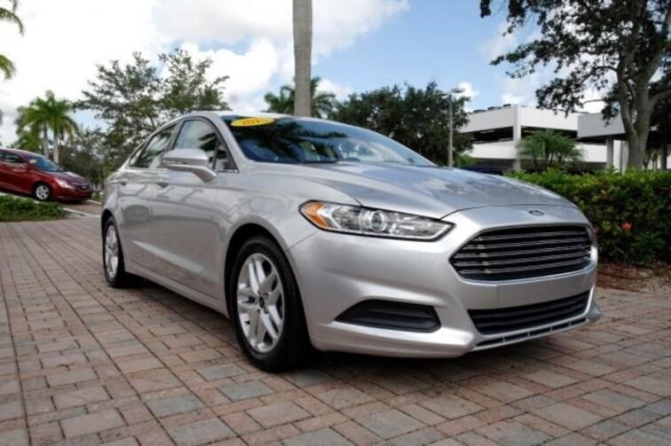 Used 2015 Ford Fusion SE Sedan for sale near Fort Lauderdale, FL at Coconut Creek Subaru