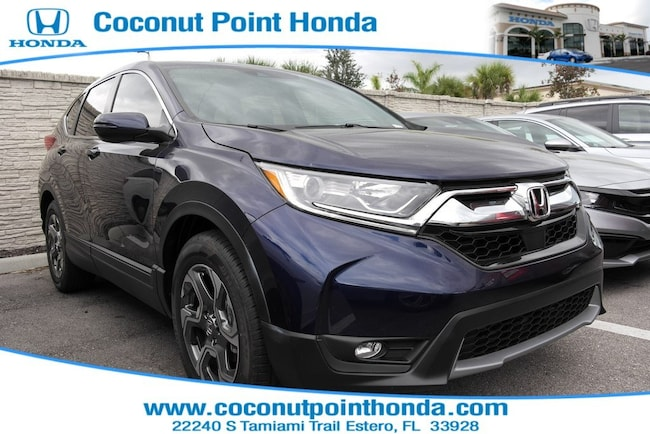 New 2019 Honda CR-V EX-L 2WD SUV For Sale in Estero FL With Blue Exterior And AUTO Transmission