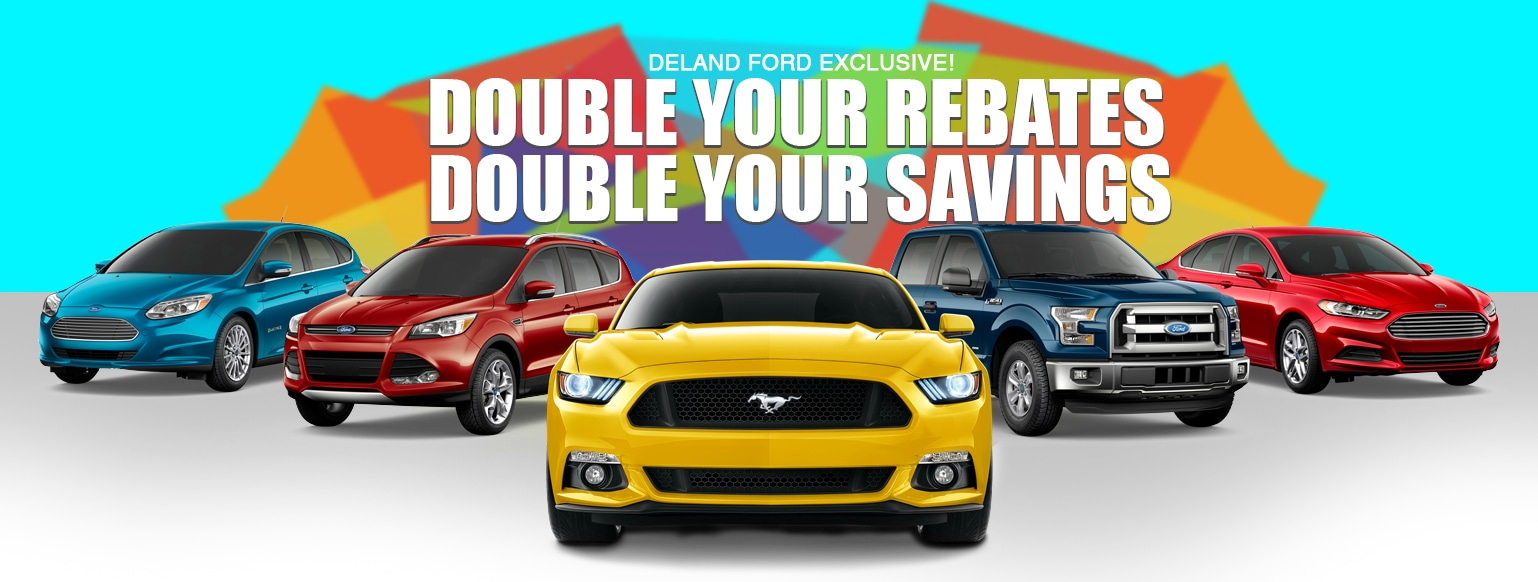 We are doubling new ford rebates
