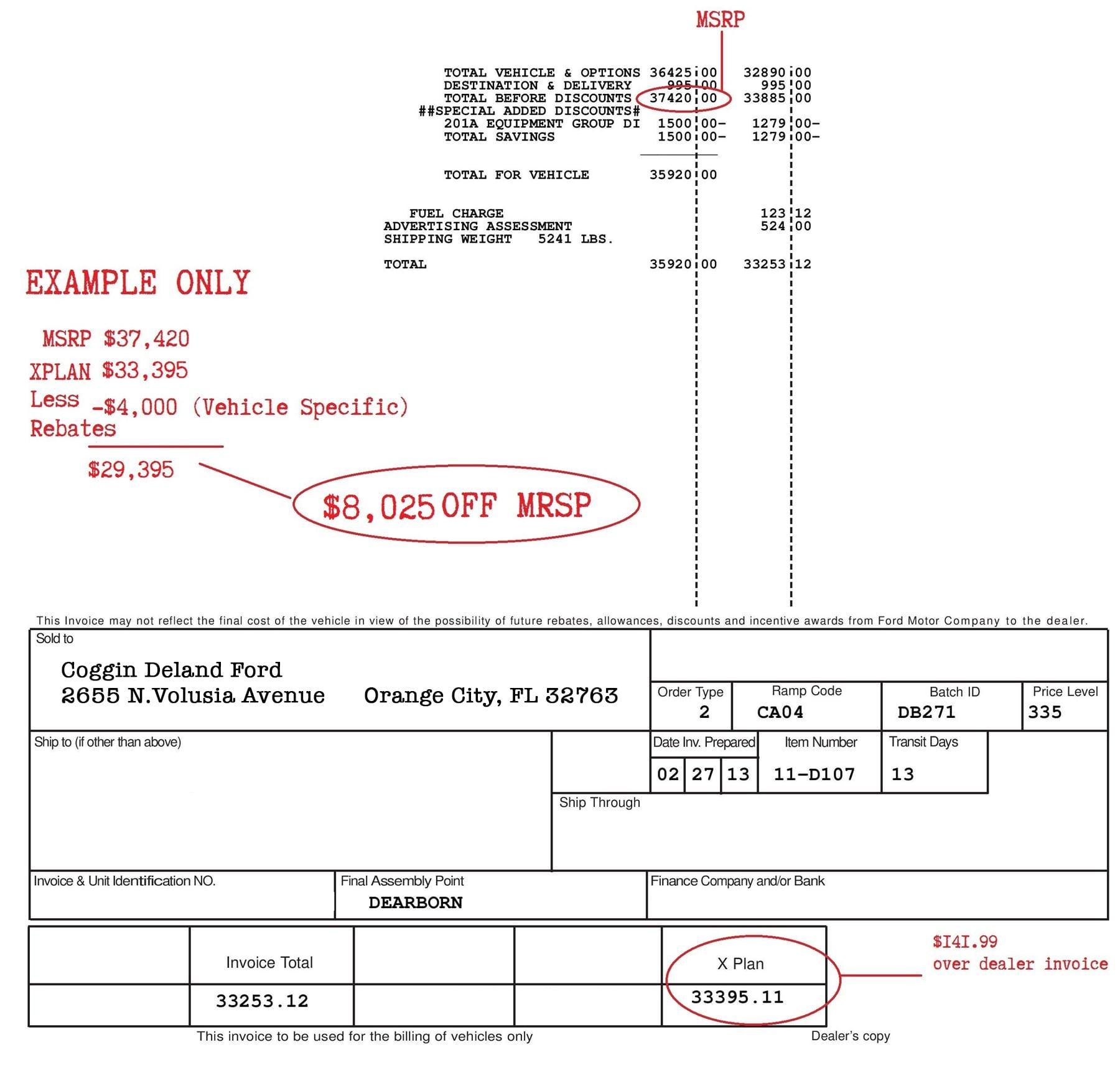 Xplan pricing ford