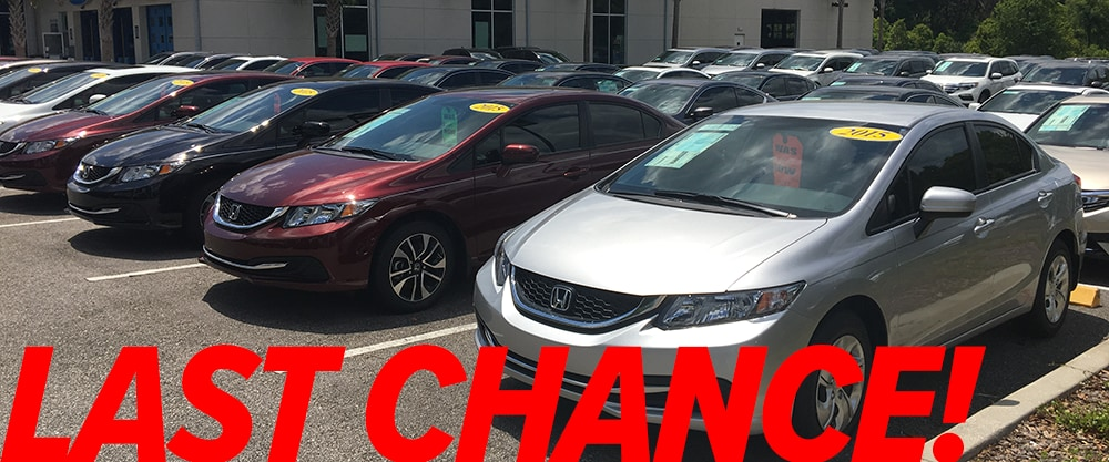 Last Chance on 2015 Hondas