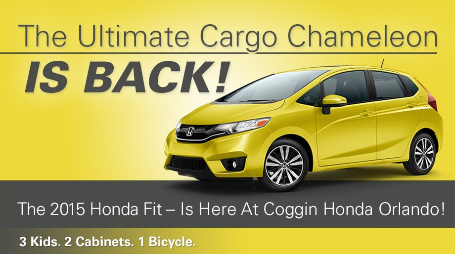 Attractive ... The Ultimate Cargo Chameleon Can Adapt To Any Shape And Any Adventure.  Introducing The All New 2015 Honda Fit, Here At Coggin Honda Orlando!