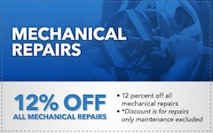 12% Off All Mechanical Repairs