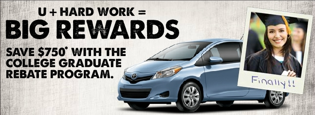 $750 College Graduate Rebate from Toyota