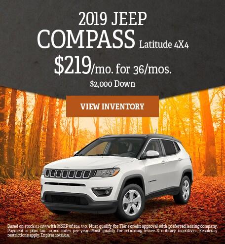October 2019 Jeep Compass Specials