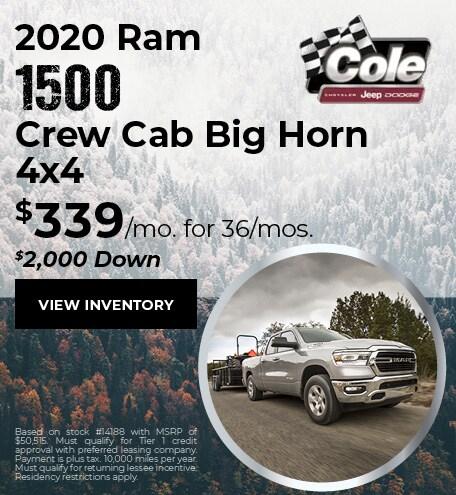 January 2020 Ram 1500 Offer