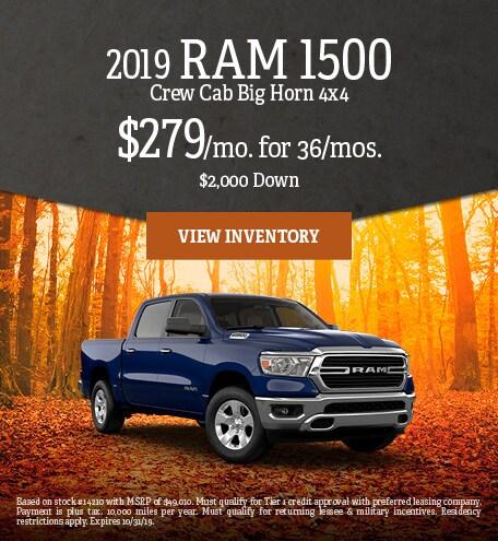 October 2019 Ram 1500 Specials