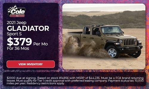 2021 Jeep Gladiator - Lease