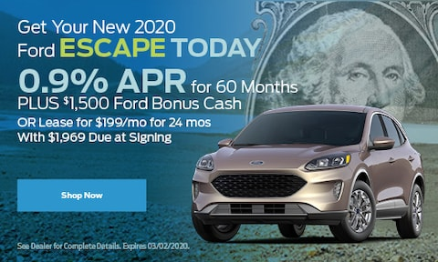Get Your New 2020 Ford Escape Today