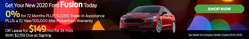 Dec 2019 - Get Your New 2020 Ford Fusion Today