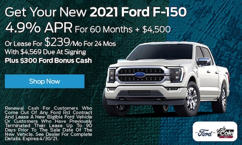 Get Your New 2021 Ford F-150 - April