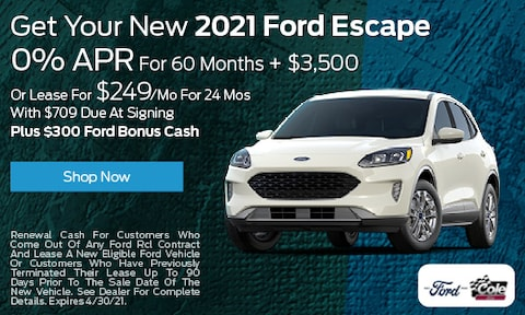 Get Your New 2021 Ford Escape - April