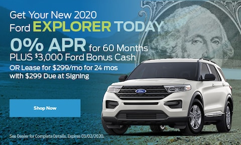 Get Your New 2020 Ford Explorer Today