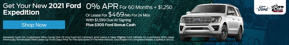Get Your New 2021 Ford Expedition - April
