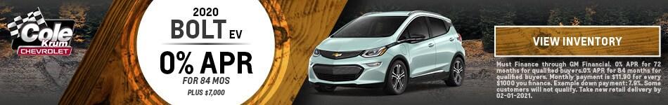 2020 Chevrolet Bolt EV - 0% APR