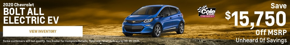 2020 Chevrolet BOLT All Electric EV