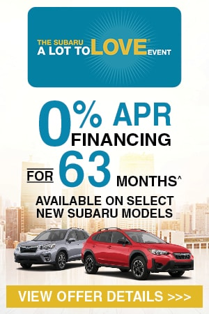 0% APR Financing for 63 Months^