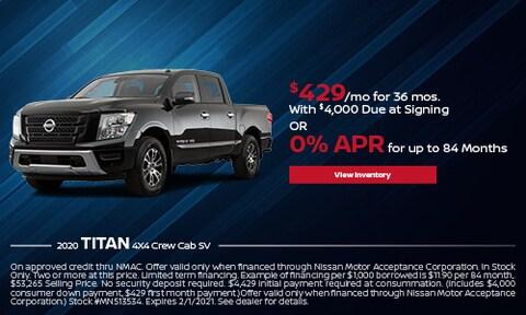 2020 Nissan Titan - Lease or 0% APR