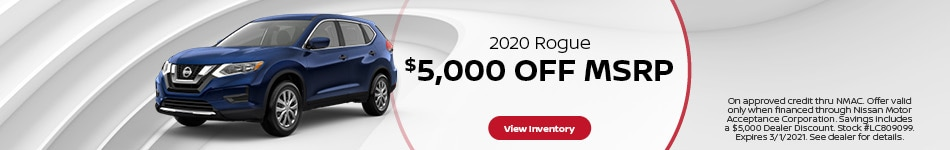 Remaining 2020 Rogue Discount