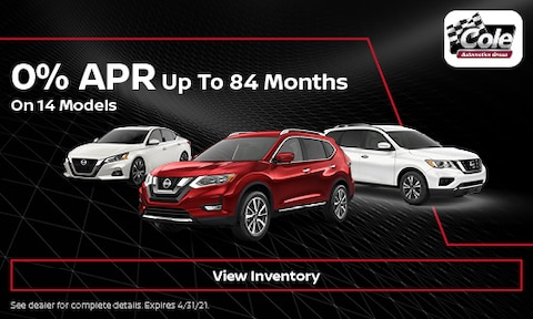 0% APR Up To 84 Months - April