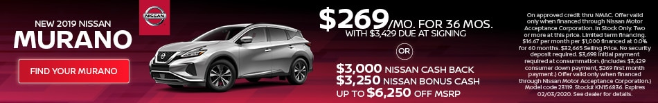 January 2019 Nissan Murano Offer