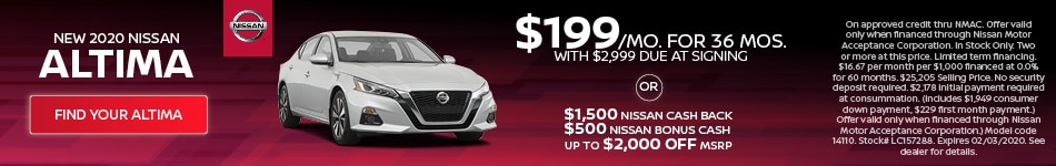 January 2020 Nissan Altima Offer