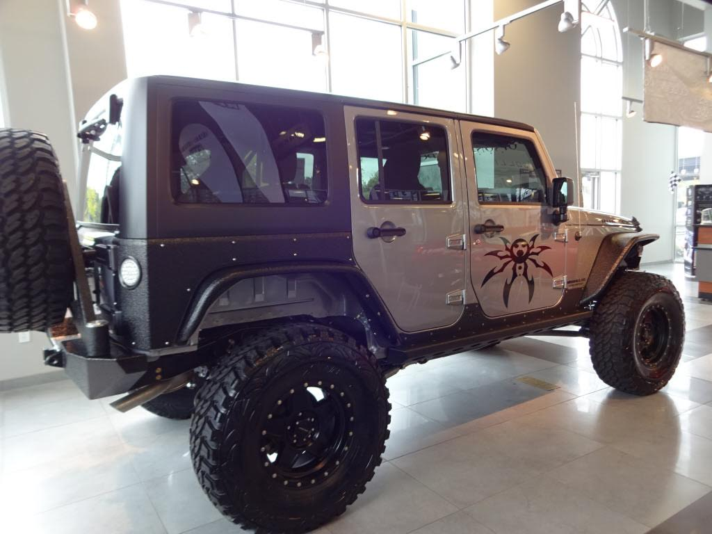 custom billet silver jeep wrangler rubicon | collierville jeep