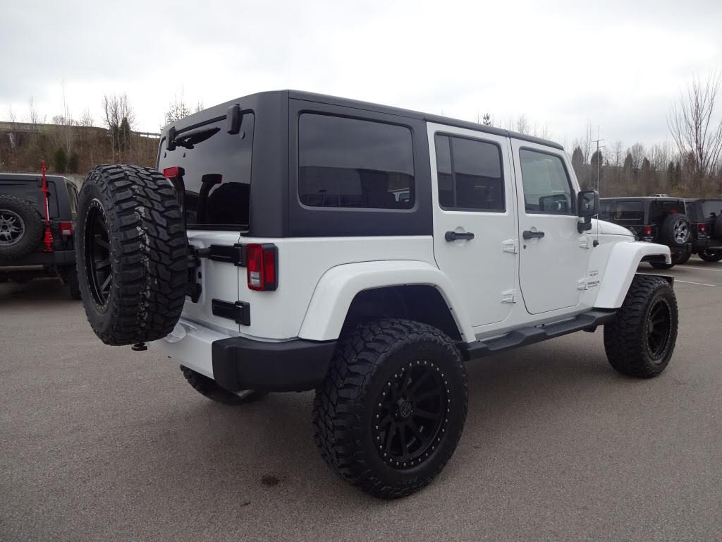 custom white jeep wrangler unlimited sahara | collierville jeep