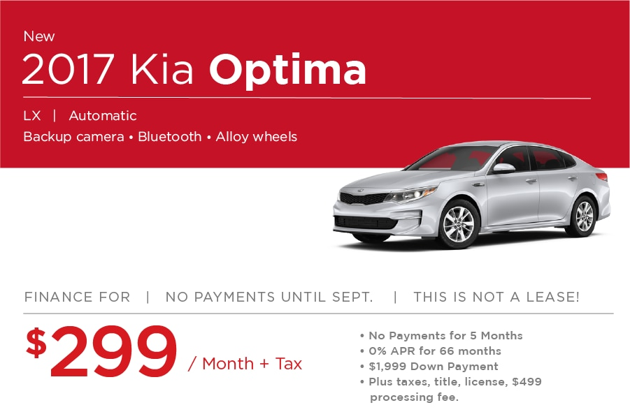 Kia Optima Special Offer