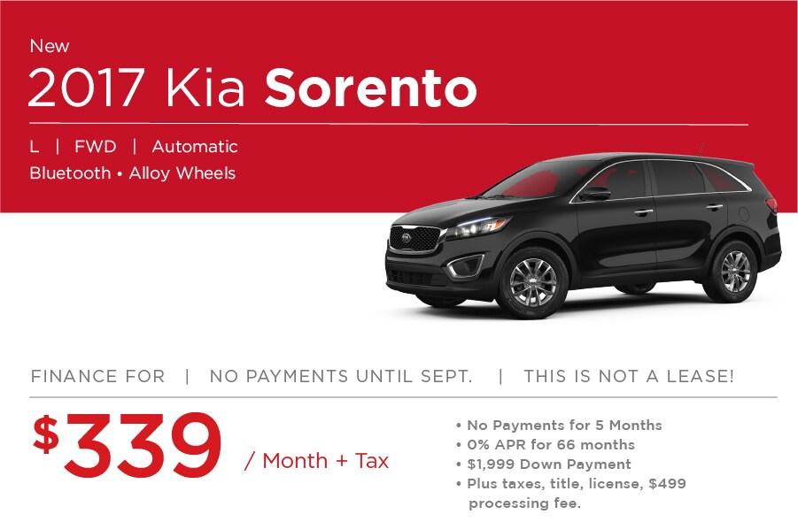 Kia Sorento Special Offers