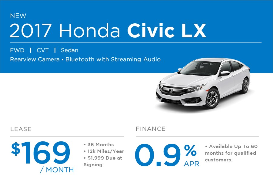 Honda Civic Sedan Special Offer