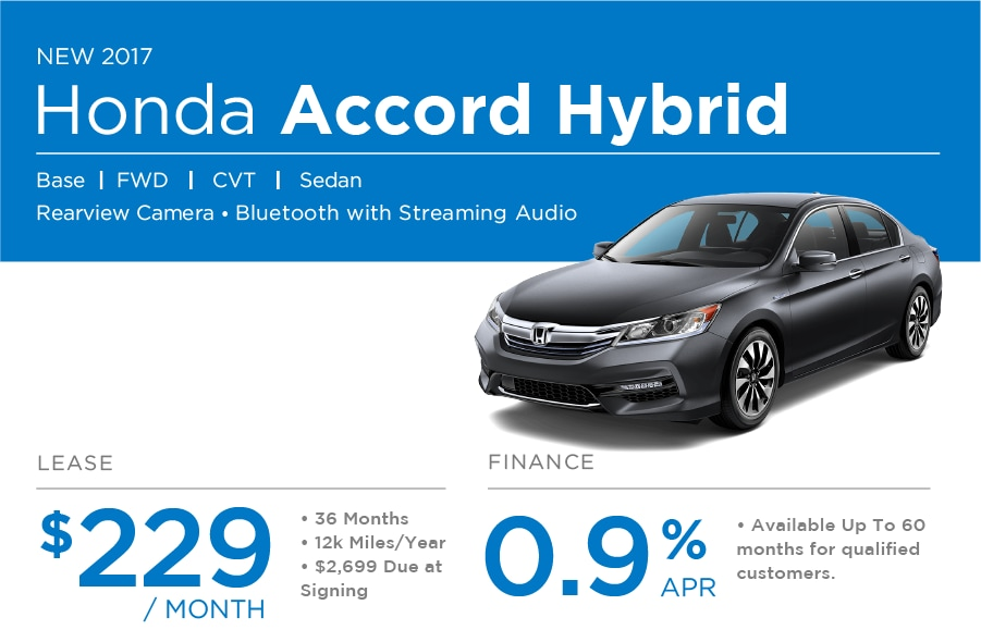 Honda Accord Hybrid Special Offer