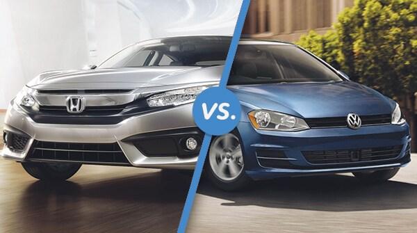 Comparison: 2018 Honda Civic Hatchback vs 2018 Volkswagen Golf