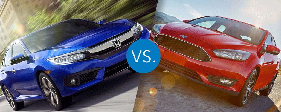 Compare 2017 Honda Civic vs Ford Focus