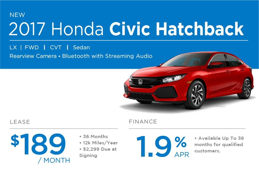 Honda Civic Hatchback Special Offer