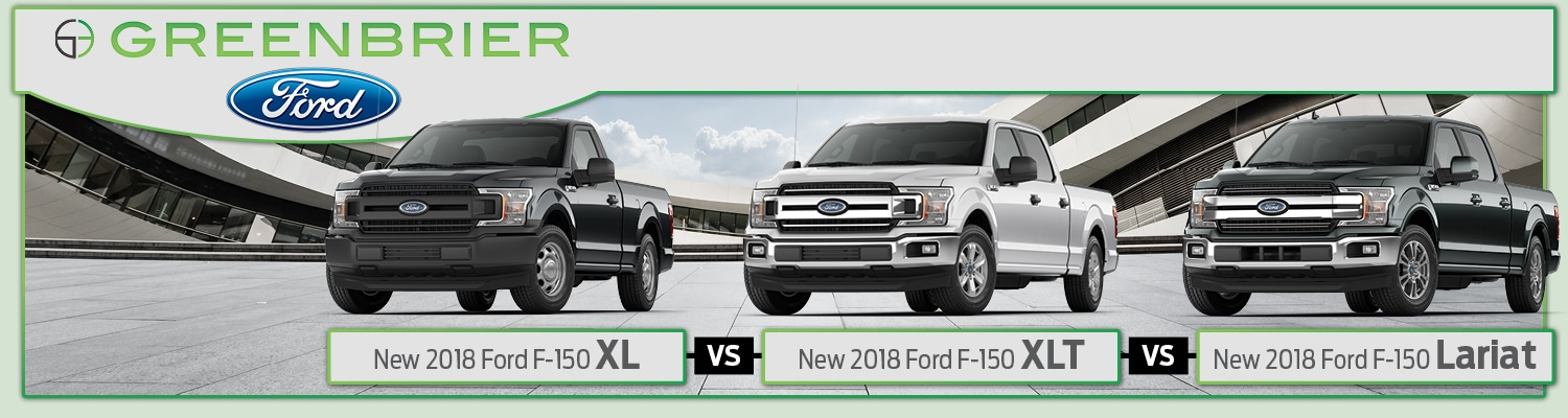 image featuring the 2018 Ford F-150 XL, XLT and Lariat trims