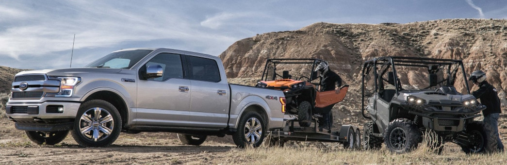 F-150 towing ATVs in mountians