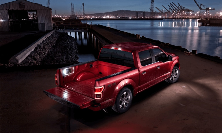 2020 Ford F-150 parked outside by water