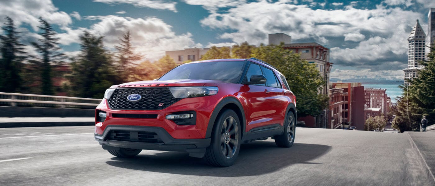2020 Ford Explorer driving down street